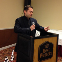 Ryan McManus, speaker at our East Ohio Regional banquet at Best Western in Wooster